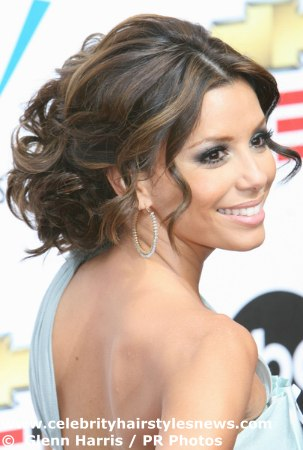 Show me your messy updo 39s wedding hair Evalongoria