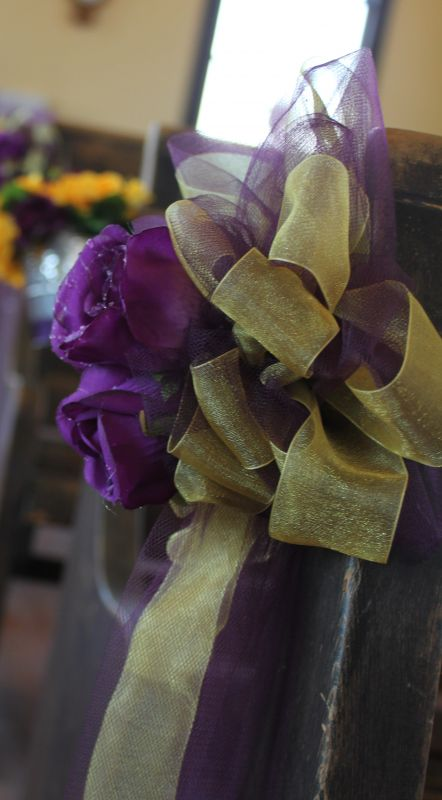 Western Purple and Yellow Decor wedding decor purple yellow reception