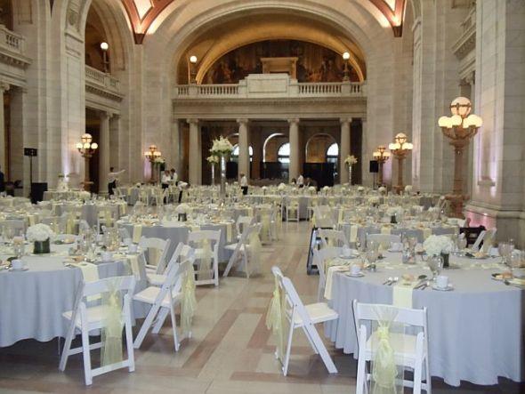 gray table runner wedding 2