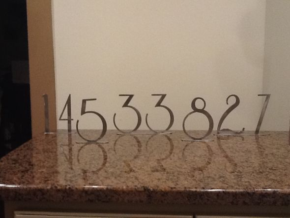 Metal Table Numbers wedding reception table decor numbers table numbers