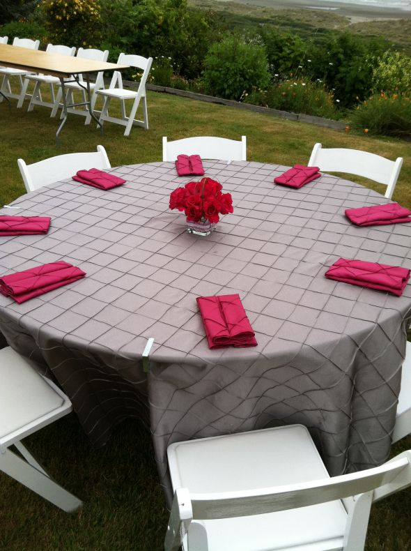 WANTED Black Linen Napkins Silver or Eggplant purple decor wedding
