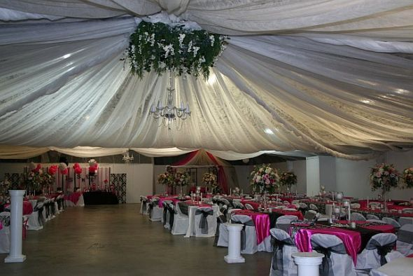 This is the lighting and ceiling draping we did for our daughter's wedding
