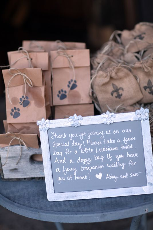 Pralines and Dog Cookie Favors