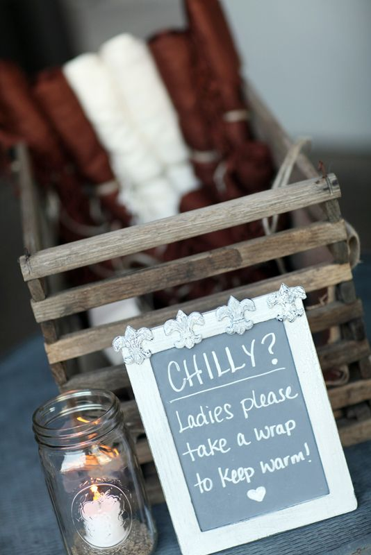 Rustic favors