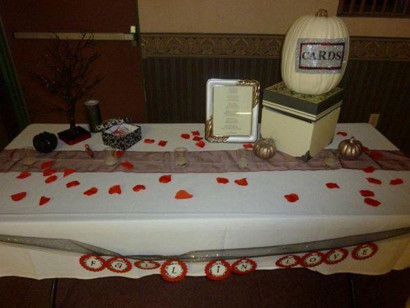 Red Black Silver Fall Wedding Decor wedding black red white ivory silver