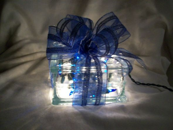 Lighted christmas present present decoration wedding christmas holiday