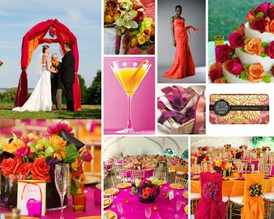 wedding colors spring wedding Fuschia And Orange 8 months ago
