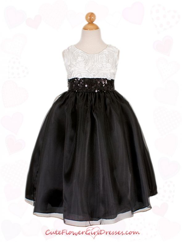 Which flower girl dress two flower girls one is my daughter and the other is my neice my colors are black and white with hints of pinks so i need help choosing here they are mightylinksfo