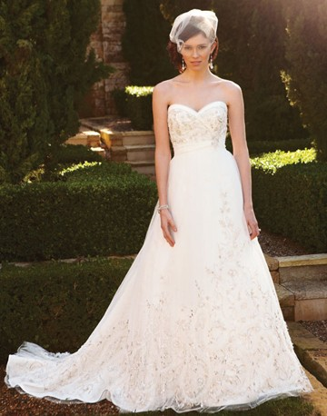 possible wedding dress..what does everyone think :  wedding black white Ca2038