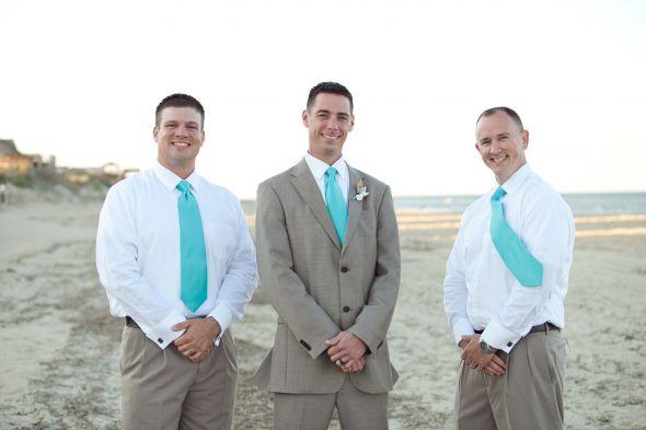 wedding casual wedding attire groom We had a beach wedding