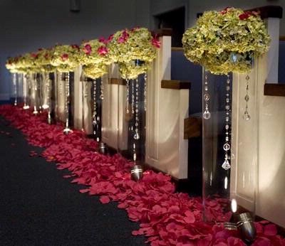 garland lights wedding centerpiece