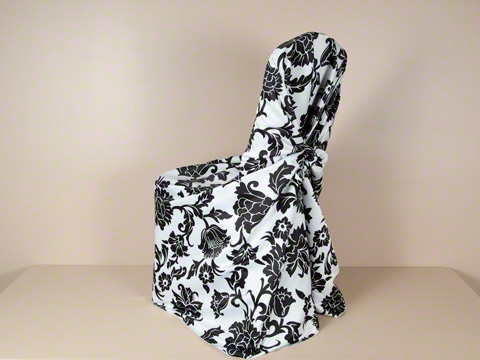Swirl Damask Universal Chair Covers 250 ech wedding CC Pillowcase Soho 1