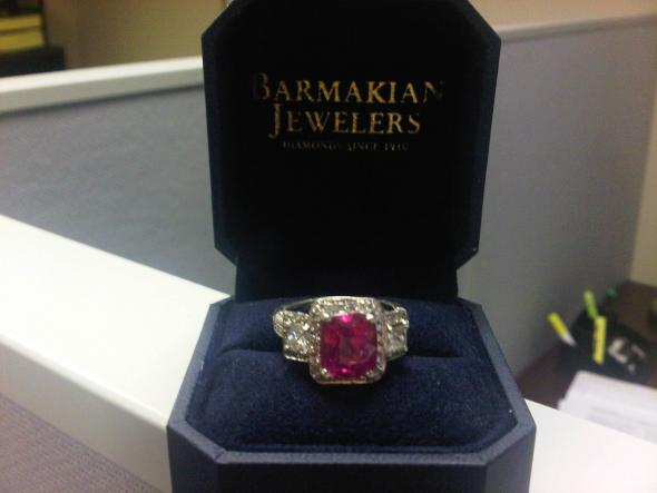 My Fantastic Pink Sapphire Engagement Ring wedding pink sapphire