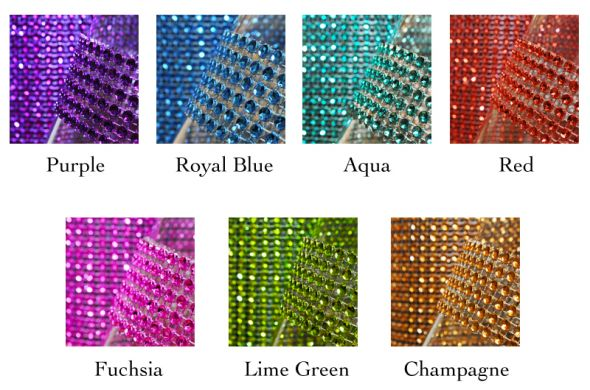 PURPLE DIAMOND RHINESTONE RIBBON 10 YARD ROLL wedding purple rhinestones