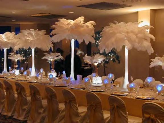 I love these white feather palm trees egyptianthemed wedding wedding