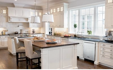 White vs. wood kitchen cabinets