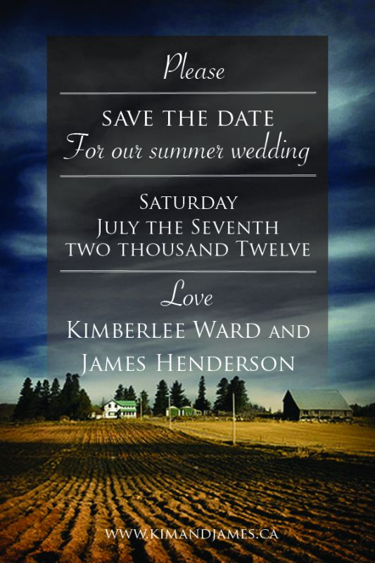 My Save the Dates!