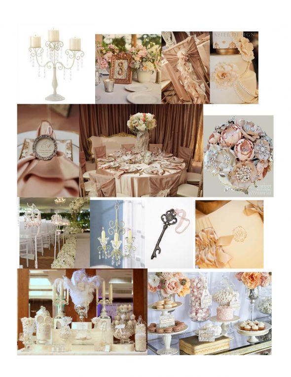 Blush Champagne Bling wedding Decor 3 months ago