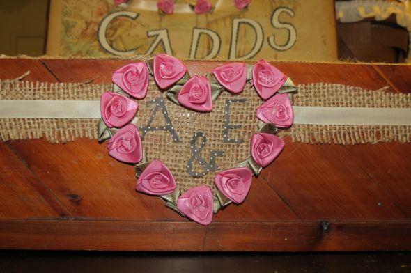 DIY Cardbox (simple) :  wedding burlap diy ivory lace pink Cannon Cam Pics 088