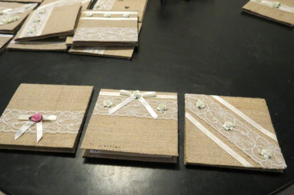 Burlap Invitations :  wedding burlap cardstock diy flowers invitations ivory lace personal touch Cannon Cam Pics 102