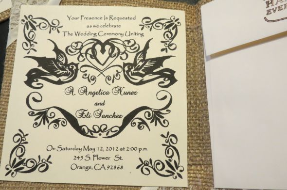 Burlap Invitations :  wedding burlap cardstock diy flowers invitations ivory lace personal touch Cannon Cam Pics 106
