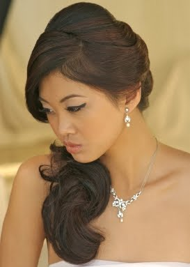 Sensational Side Swept Bridal Hairstyles For Long Hiar With Veil Half Up 2013 Hairstyles For Men Maxibearus