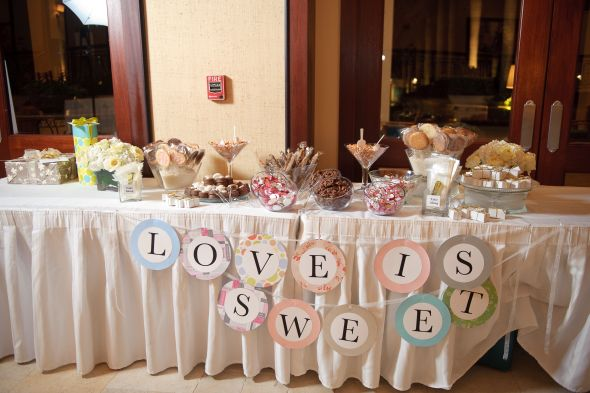 Candy Buffet Sign for Table LOVE IS SWEET wedding candy buffet table