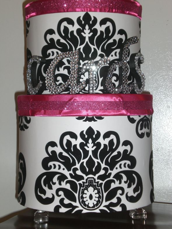 Finished Damask Cardbox :)
