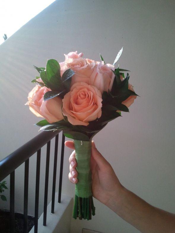 My DIY bouquet for my beach wedding