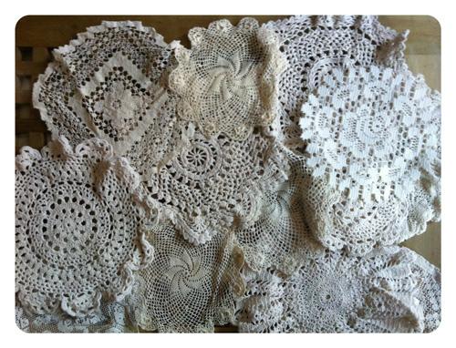 Lace Doilies Ivory White Ecru wedding lace doilies lace doilies