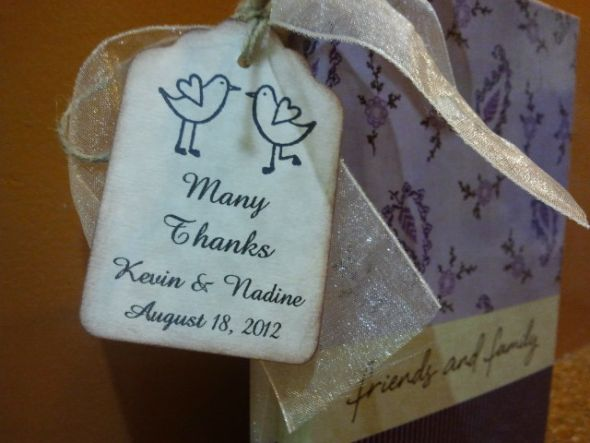 Destination Wedding Photo Album Favors