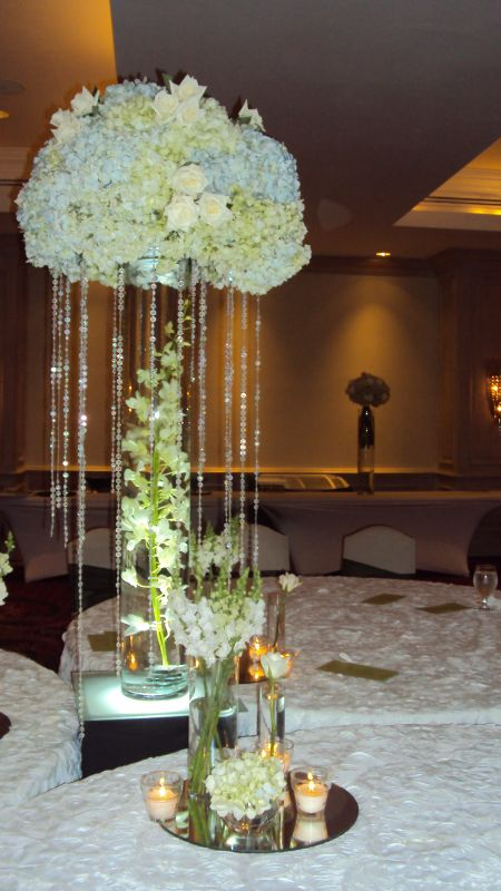 Centerpieces help weddingbee