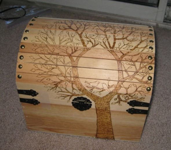 My diy wooden chest card box weddingbee