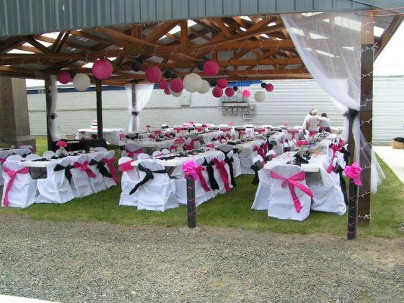 photos of my wedding where the items where used 6 18 11 Fuschia
