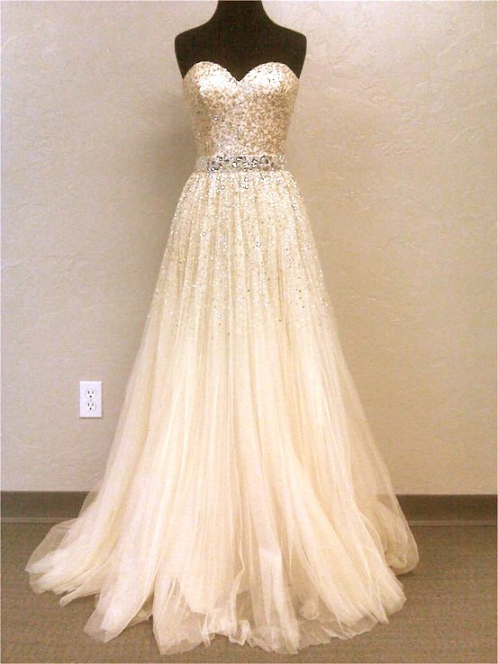 Saved from for Very sparkly wedding dresses