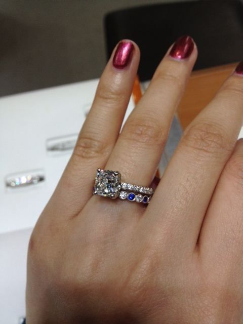 diamond shane tap bands sapphire and engagement color rings zoom setting pave with p co ring accent thumbnail to