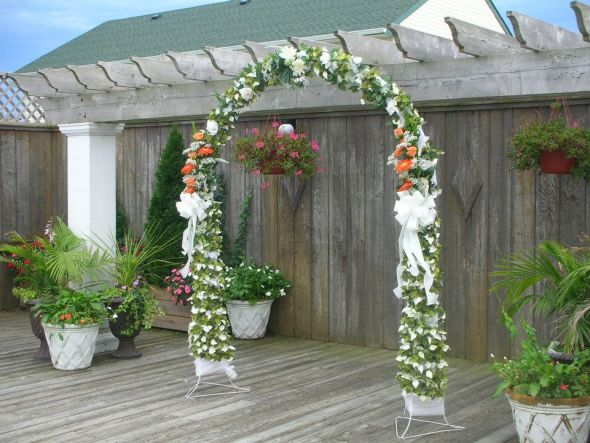 Arbor Decoration Advice Needed wedding wedding decorating ceremony arbor