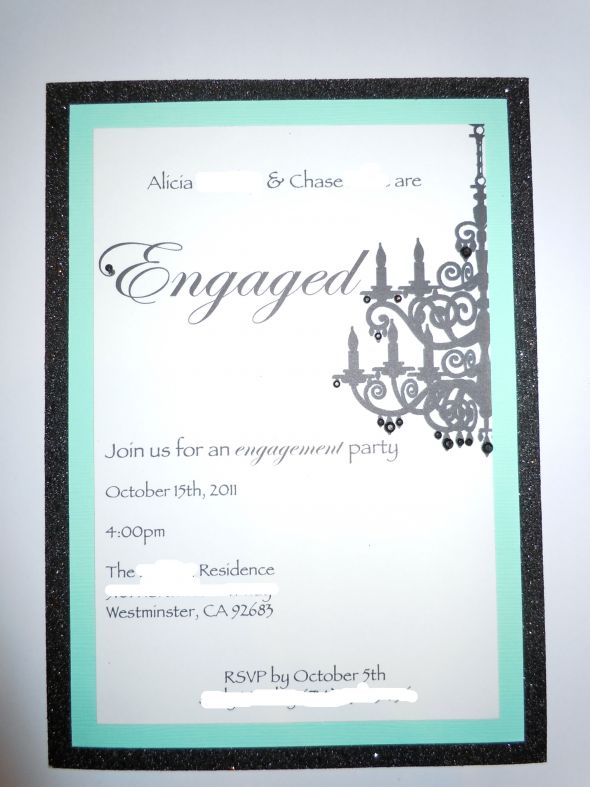DIY engagement party invitations! My first DIY wedding project