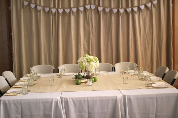 Needing ideas for decorating our wall behind bridal party table