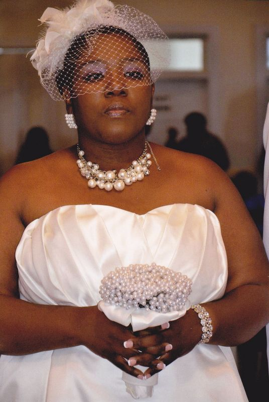 My DIY Birdcage Veil & Pearl Bouquet......wedding day