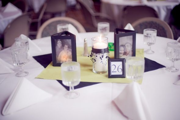 TABLE DECORATIONS Black Green Wedding ItemsFlowers Candles