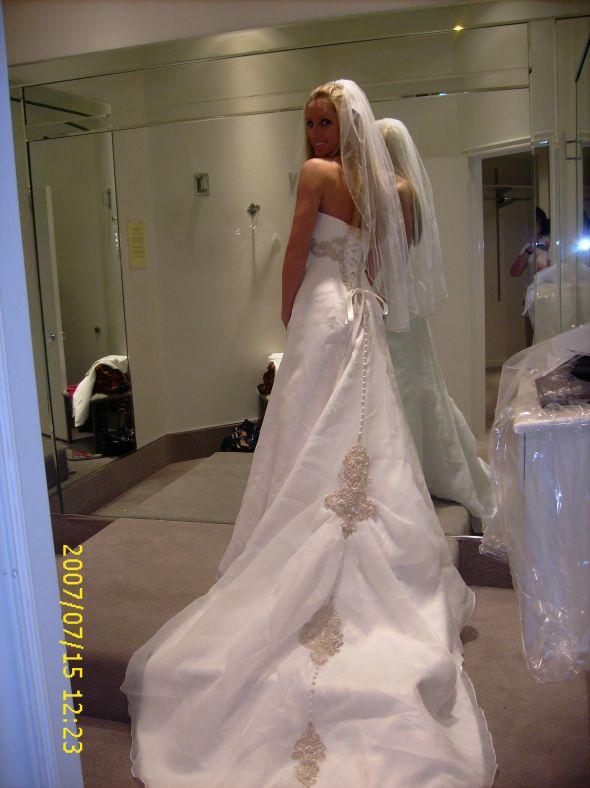 my wedding dress back view wedding gold ivory dress Weddingdress2