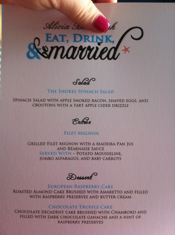 Diy wedding menu ideas diy weddings menu ideas and recipes diy wedding menu ideas weddingbee do it yourself solutioingenieria Images