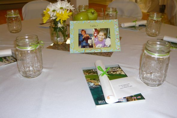 Chair sashes mason jars table numbers card box etc wedding