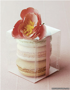 Macaron Favours :  wedding edible favors macarons macaroons pink wedding favors Macarons   3 In A Box