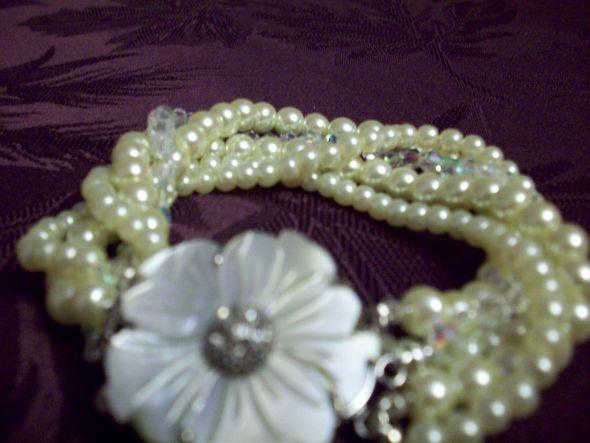 My bridal bracelet wedding ivory diy jewelry 100 2208