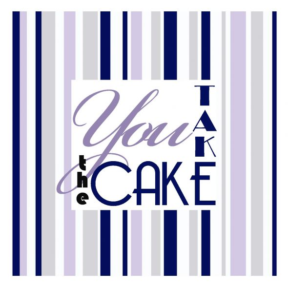 Cake Table wedding navy purple cake diy reception Cake Sign