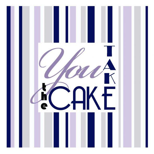 Cake Table wedding navy purple cake diy reception Cake Sign
