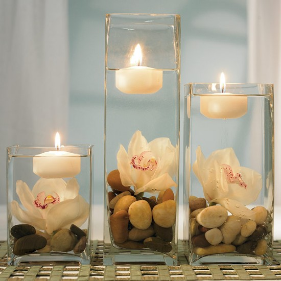Need some advice... :  wedding diy goblets pebbles reception W100