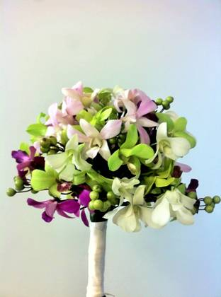 DIY Orchid Bouquet and Garland: Trial Run